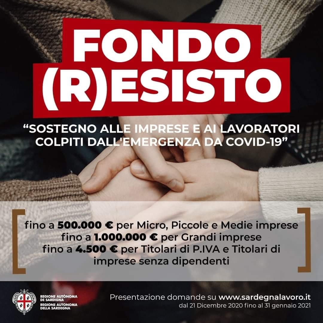 Fondo (R)ESISTO - Sostegno alle imprese e ai lavoratori colpiti dall'emergenza da Covid-19