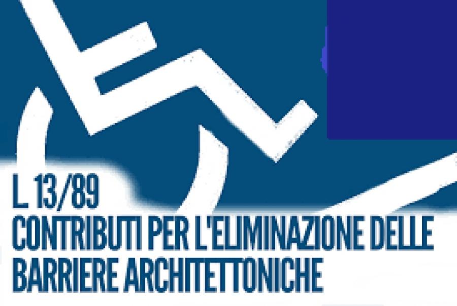 Barriere Architettoniche - Avviso ammissibilità al contributo degli edifici 'Post 1989'